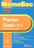 Jean-Claude Paul - Physique-Chimie Tle S - Enseignement de spécialité.