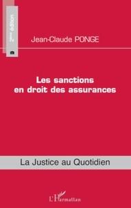Jean-Claude Ponge - Les sanctions en droit des assurances.