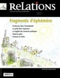 Jean-Claude Ravet et Catherine Caron - Relations. No. 779, Juillet-Août 2015 - Fragments d'éphémère.