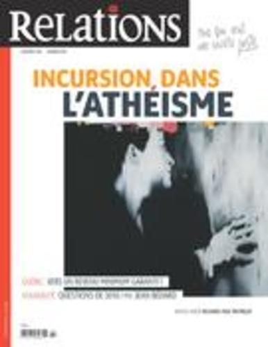 Relations. No. 788, Janvier-Février 2017. Incursion dans l'athéisme
