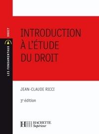 Jean-Claude Ricci - Introduction à l'étude du droit - N°16 - 3ème édition.