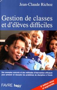 Jean-Claude Richoz - Gestion de classes et d'élèves difficiles.