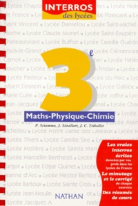 Maths-physique-chimie, 3e - Jean-Claude Tribollet |