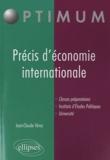 Jean-Claude Vérez - Précis d'économie internationale.