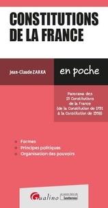 Jean-Claude Zarka - Constitutions de la France.