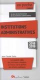 Jean-Claude Zarka - Institutions administratives.