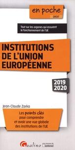 Institutions de l'Union européenne - Jean-Claude Zarka pdf epub