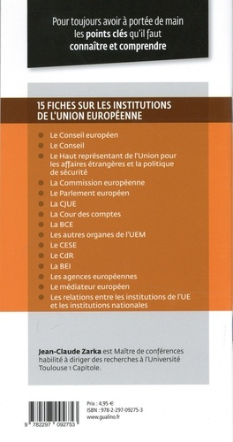 Institutions de l'union européenne  Edition 2020-2021
