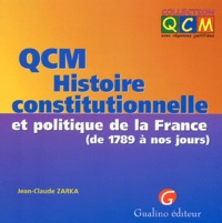 QCM Histoire constitutionnelle et politique de la France (de 1789 à nos jours).pdf