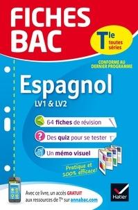 Jean Congar et Jean-Yves Kerzulec - Fiches bac Espagnol Tle (LV1 & LV2) - fiches de révision   Terminale toutes séries.