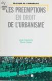 Jean Courrech - Les Préemptions en droit de l'urbanisme.