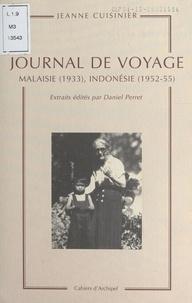 Jean Cuisenier - Journal de voyage : Malaisie (1933), Indonésie (1952-55).