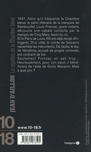 Les enquêtes de Louis Fronsac  Le mystère de la chambre bleue