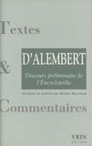 Jean d' Alembert - Discours préliminaire de l'Encyclopédie.