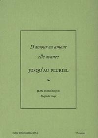 Jean D'amérique - Rhapsodie rouge.