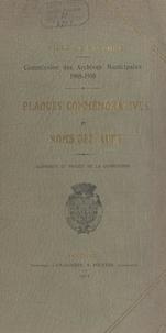 Jean Darrigrand et Arnaud Détroyat - Plaques commémoratives et noms des rues - 1908-1910. Rapports et projet de la Commission.