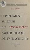 Jean Dauby - Complément au Livre du Rouchi - Parler picard de Valenciennes.