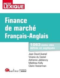 Jean-David Avenel et Viviane Du Castel - Finance de marché français-anglais.