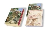 Jean de La Fontaine - 400 ans Jean de La Fontaine - Coffret en 2 volumes : Fables, Contes. Avec 2 ex-libris.