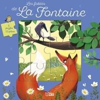 Jean de La Fontaine et Emmanuelle Colin - Les fables de La Fontaine - 5 puzzles de 12 pièces.