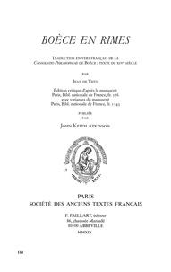 Galabria.be Boèce en rimes - Traduction en vers français de la Consolatio philosophiae, texte du XIVe siècle Image