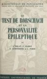 Jean Delay et J. Delay - Le test de Rorschach et la personnalité épileptique.