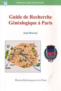 Jean Delorme - Guide de recherche généalogique à Paris.