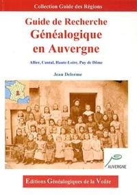 Jean Delorme - Guide de recherche généalogique en Auvergne.