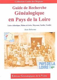 Jean Delorme - Guide de recherche généalogique en Pays de la Loire.