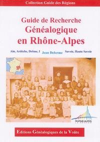 Jean Delorme - Guide de Recherche Généalogique en Rhône-Alpes.