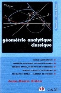 Jean-Denis Eiden - Géométrie analytique classique.