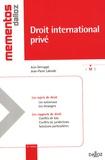 Jean Derruppé et Jean-Pierre Laborde - Droit international privé.