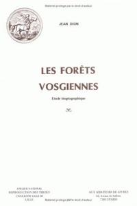 Les forêts vosgiennes - Etude biogéographique.pdf