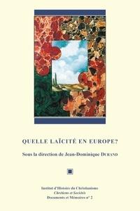 Jean-Dominique Durand - Quelle laïcité en Europe?.