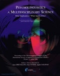 Jean Drévillon - Psycholinguistics: a multidisciplinary science of 2000 - What implications, what applications?.