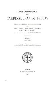 Jean Du Bellay - Correspondance - Tome 5, 1549-1550.