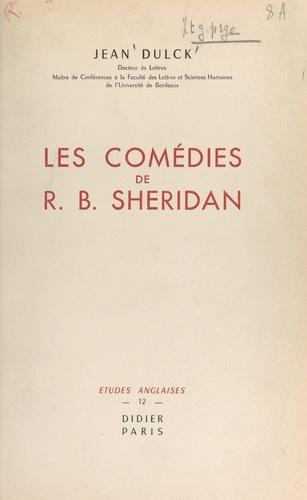 Les comédies de R. B. Sheridan. Étude littéraire
