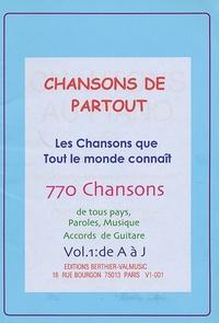 Jean-Edel Berthier - Chansons de partout : Les chansons que tout le monde connaît - Pack en 2 volumes : Tomes 1 et 2.