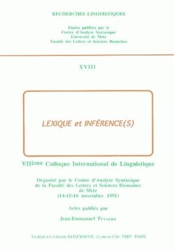 Jean-Emmanuel Tyvaert - Lexique et inférence(s).