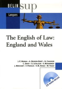 Jean-Eric Branaa et Anne Brunon-Ernst - The English of Law: England and Wales. 1 CD audio