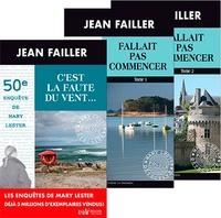 Jean Failler - Une enquête de Mary Lester  : Pack en 3 volumes - C'est la faute du vent ; Fallait pas commencer Tomes 1 et 2.