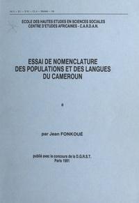 Jean Fonkoué et  Centre d'analyse et de recherc - Essai de nomenclature des populations et des langues du Cameroun (1).