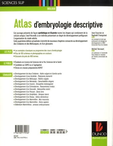 Atlas d'embryologie descriptive 4e édition