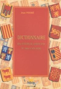 Openwetlab.it Dictionnaire des auteurs de langue d'oc de 1800 à nos jours Image