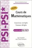 Jean Franchini et Jean-Claude Jacquens - Cours de mathématiques 2e année PSI-PSI* - Exercices corrigés, travaux dirigés.