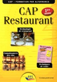 Rhonealpesinfo.fr CAP Restaurant 1re année - Technologie de restaurant, techniques de vente, connaissances des vins Version professeur Image