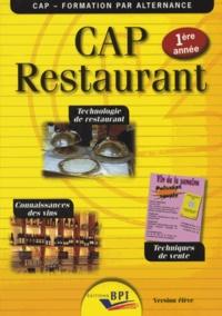 CAP restaurant 1re année- Technologie de restaurant, techniques de vente, connaissances des vins - Jean-François Augez-Sartral |