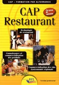 Jean-François Augez-Sartral - CAP Restaurant 2e année - Version professeur.