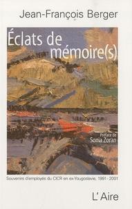 Histoiresdenlire.be Eclats de mémoire(s) - Souvenirs d'employés du CICR en ex-Yougoslavie (1991-2001) Image