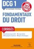 Jean-François Bocquillon et Martine Mariage - DCG 1 Fondamentaux du droit - Corrigés - Réforme Expertise comptable 2019-2020.